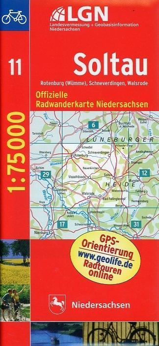 LGN Radwanderkarte Niedersachsen - Soltau