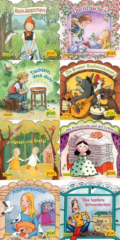 Pixi-Bundle 8er Serie 217: Märchenstunde mit Pixi (8x1 Exemplar)