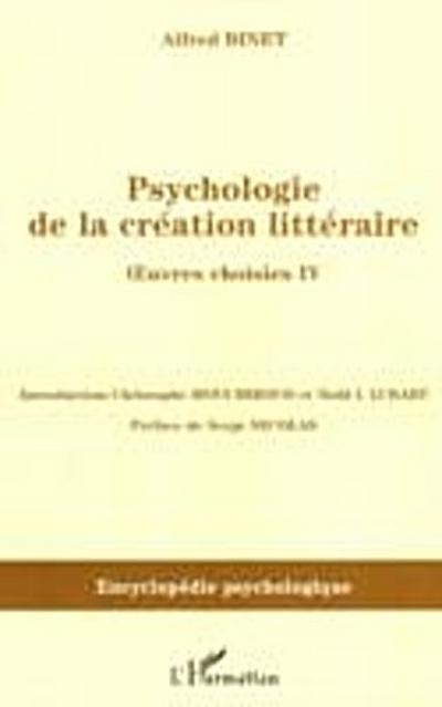 Psychologie de la creation litteraire oe