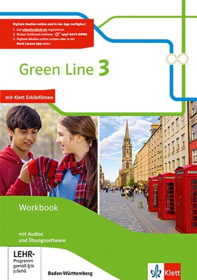 Green Line. Workbook mit Audio-CDs und Übungssoftware 7. Klasse. Ausgabe Baden-Württemberg ab 2016