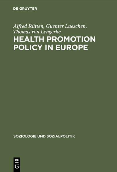 Health Promotion Policy in Europe