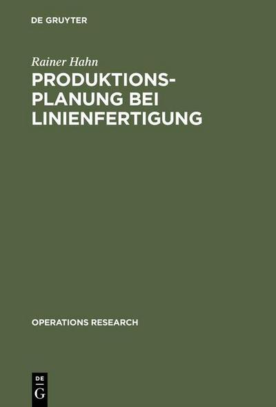 Produktionsplanung bei Linienfertigung