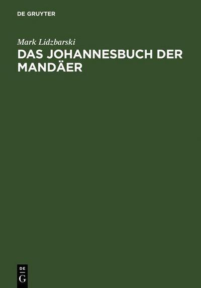 Das Johannesbuch der Mandäer