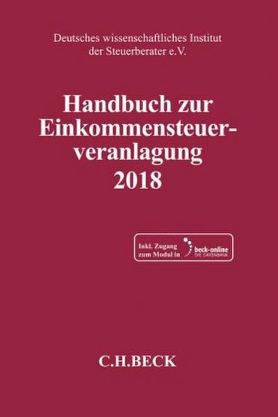 Handbuch zur Einkommensteuerveranlagung 2018