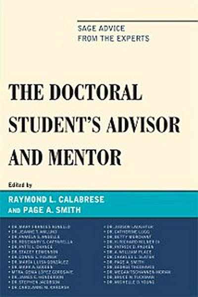 The Doctoral StudentOs Advisor and Mentor