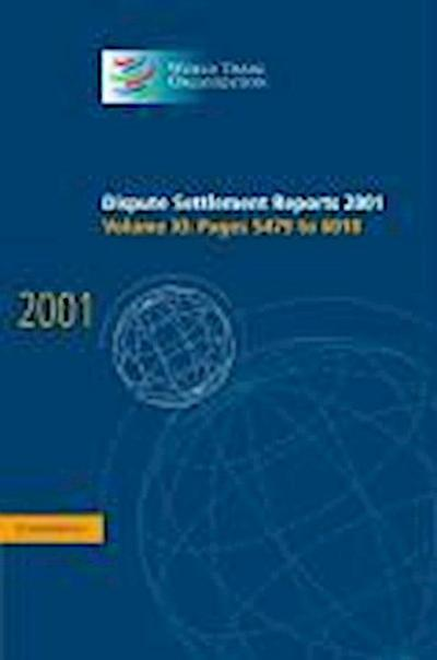 Dispute Settlement Reports 2001: Volume 11, Pages 5479-6010