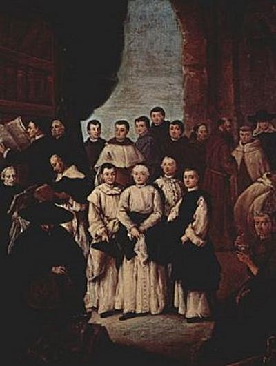 Pietro Longhi - Venezianische Mönche, Kanoniker und Mitglieder venezianischer Bruderschaften - 100 Teile (Puzzle)