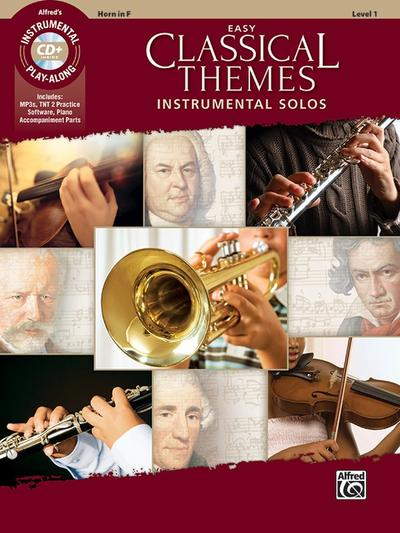 Easy Classical Themes Instrumental Solos, Horn in F, w. Audio-CD