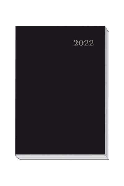 Buchkalender A5 2022 schwarz