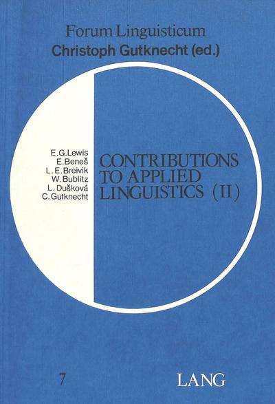 Contributions to Applied Linguistics (II)
