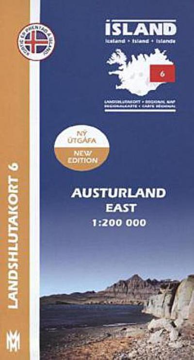 IRK 06 Austurland / Ost-Island Regionalkarte 1 : 200 000