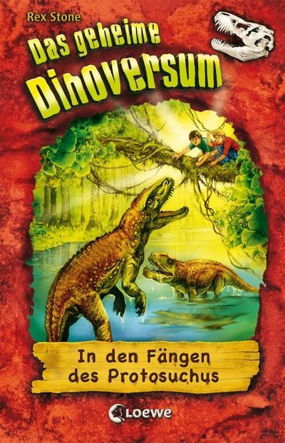 In den Fängen des Protosuchus   ; Das geheime Dinoversum 14; mit Prägung und Spotlack; Ill. v. Spoor, Mike /Übers. v. Schatz, Isabel; Deutsch;  -