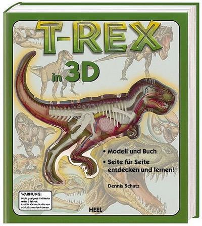 T-Rex in 3D: Modell und Buch. Seite für Seite entdecken und lernen!