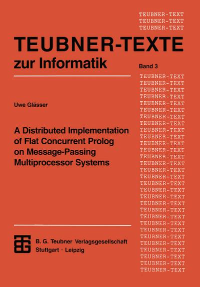 A Distributed Implementation of Flat Concurrent Prolog on Message-Passing Multiprocessor Systems