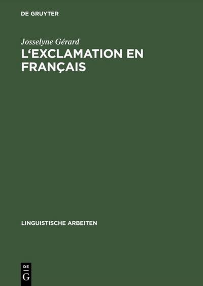 L'exclamation en français