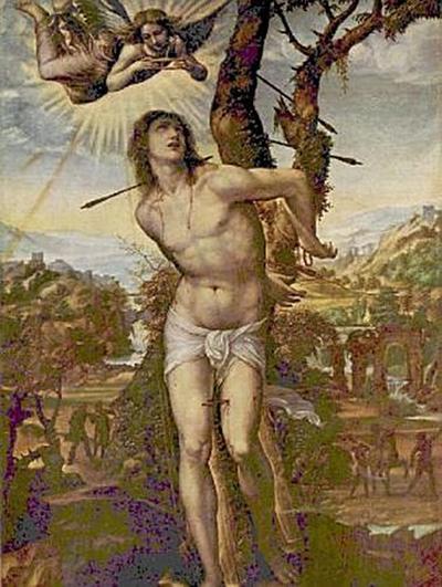 Sodoma - Hl. Sebastian und Madonna mit Heiligen - 1.000 Teile (Puzzle)