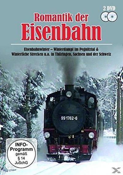 Romantik der Eisenbahn - Eisenbahnwinter, Winterdampf im Pegnitztal & Winterliche Strecken u.a. in Thüringen, Sachsen und der Schweiz - 2 Disc DVD
