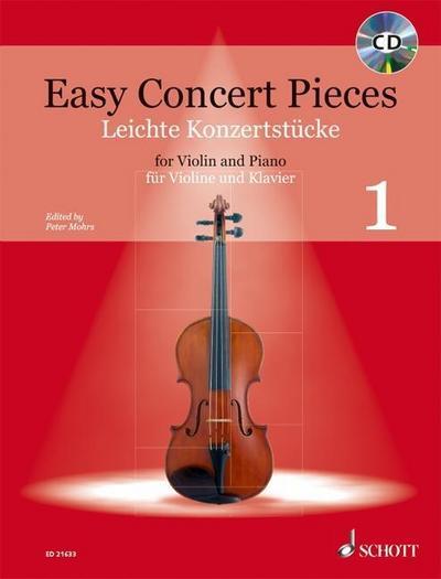 Easy Concert Pieces. Violine und Klavier Band 1. Ausgabe mit CD