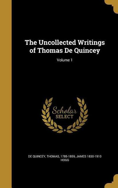 UNCOLLECTED WRITINGS OF THOMAS