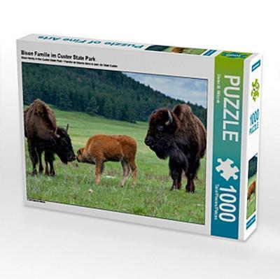 Bison Familie im Custer State Park (Puzzle)