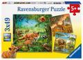 Tiere der Erde. Puzzle 3 x 49 Teile