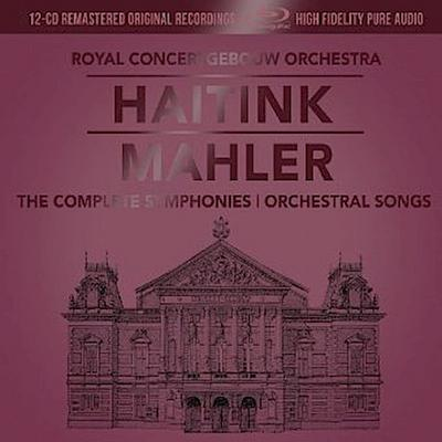 Haitink: Mahler - The Complete Symphonies + Orchestral Songs, 12 Audio-CDs + 1 Blu-ray-Audio