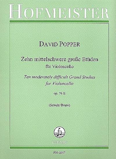 10 mittelschwere große Etüden op76,2für Violoncello