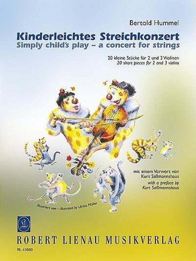 Kinderleichtes Streichkonzert, für 2-3 Violinen, Spielpartitur