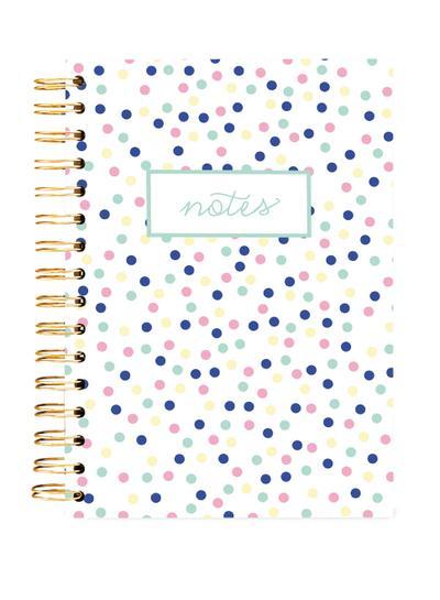 Hard Bound Journal: Small Pastel Dots - Hardcover-Notizbuch mit stabiler Ringbindung: Kleine pastellfarbene Punkte