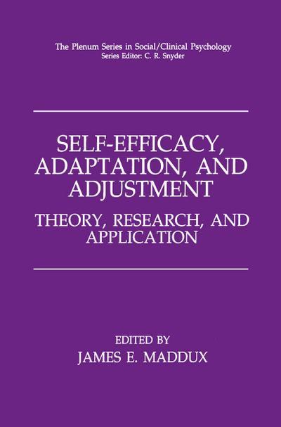 Self-Efficacy, Adaptation, and Adjustment