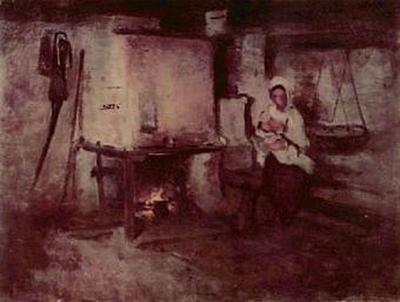 Nicolae Grigorescu - Häuslicher Herd in Rucar - 200 Teile (Puzzle)