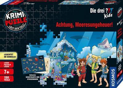 Krimi Puzzle Die drei ??? Kids,  Achtung, Meeresungeheuer! (Kinderpuzzle)