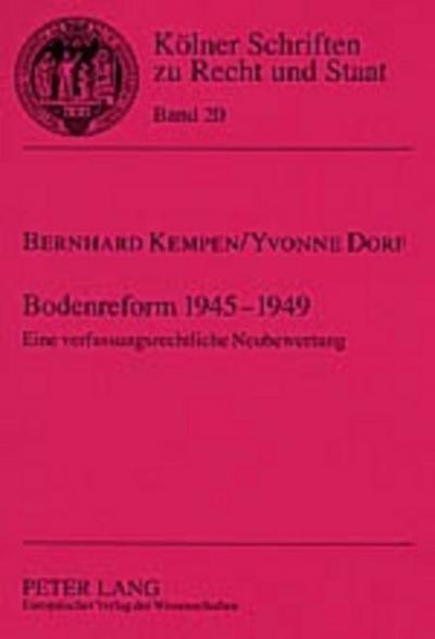 Bodenreform 1945-1949