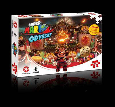 Winning Moves GmbH 11309 - Puzzle: Super Mario Odyssey Bowsers Castle (500 Teile) - Winning Moves - Spiel, Deutsch, , ,