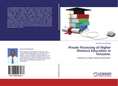 Private Financing of Higher Distance Education in Tanzania.