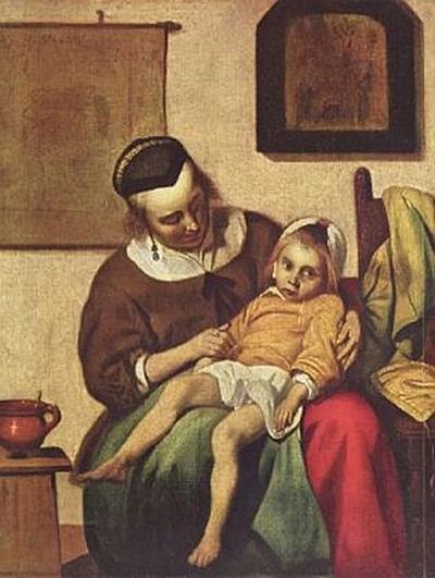 Gabriel Metsu - Das kranke Kind - 200 Teile (Puzzle)