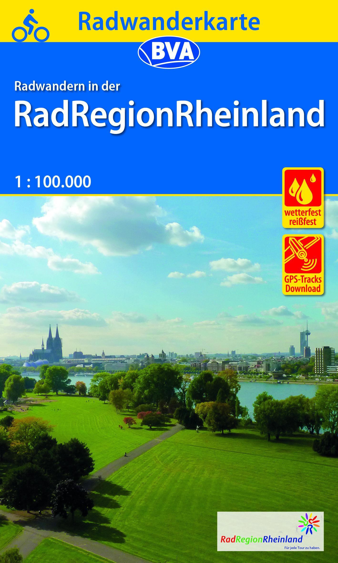 Radwanderkarte BVA Radwandern in der RadRegionRheinland 1:100.000