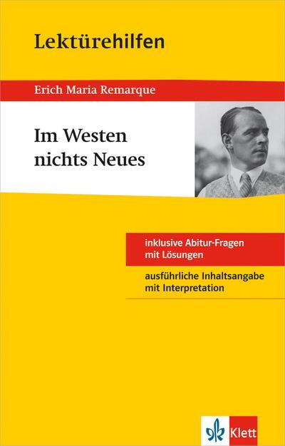 """Lektürehilfen """"Im Westen nichts Neues"""""""