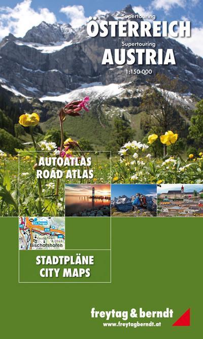 Österreich Supertouring Autoatlas 1 : 150 000