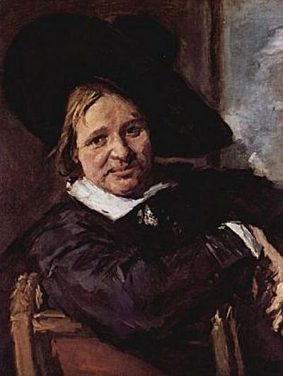 Frans Hals - Porträt eines sitzenden Mannes mit schrägem Hut, den rechten Arm auf der Stuhllehne - 200 Teile (Puzzle)