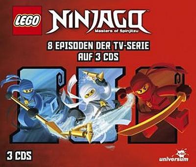 LEGO Ninjago Hörspielbox. Tl.1, 3 Audio-CDs