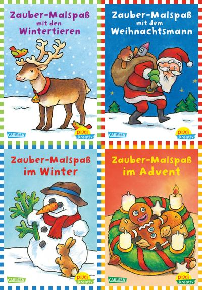 Pixi kreativ Serie Nr. 9: Zauberhafte Weihnachten mit Pixi kreativ (4 x 7 Exemplare)