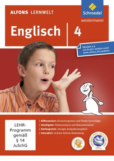 Alfons Lernwelt Lernsoftware Englisch 4. DVD-ROM für Windows 7; Vista; XP und Mac OS X 10.5