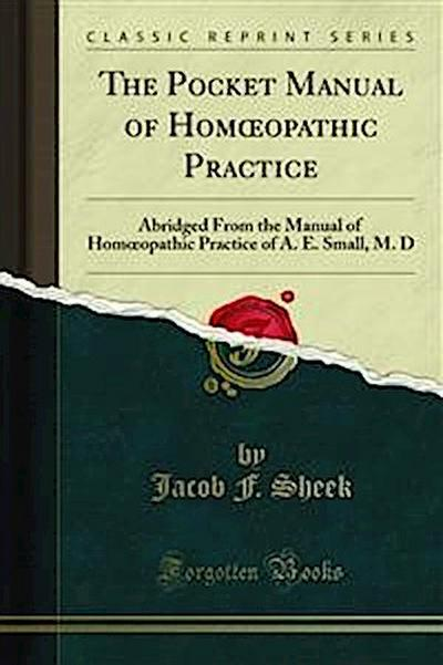 The Pocket Manual of Homœopathic Practice