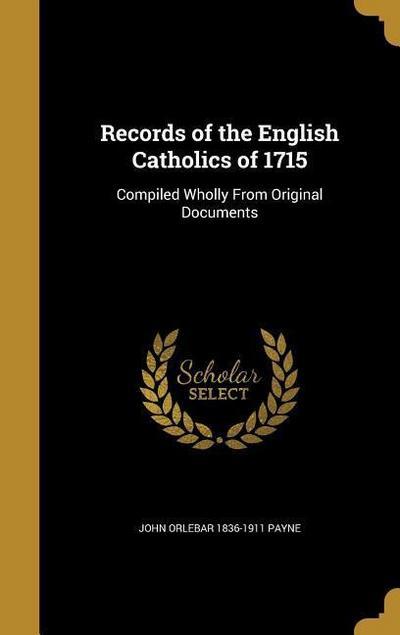 RECORDS OF THE ENGLISH CATHOLI