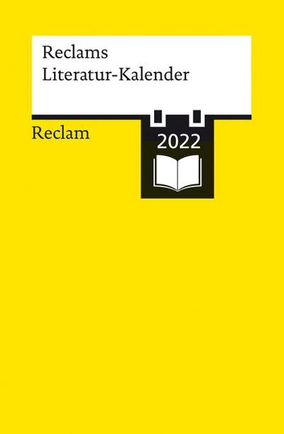Reclams Literatur-Kalender 2022