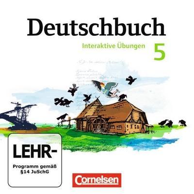 Deutschbuch, Gymnasium Östliche Bundesländer und Berlin 5. Schuljahr, Interaktive Übungen, CD-ROM