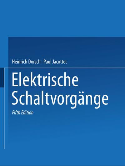 Rüdenberg Elektrische Schaltvorgänge