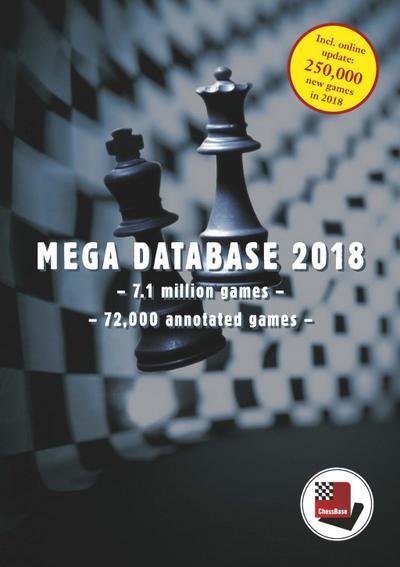 CHESSBASE MEGA DATABASE 2018 - Chessbase Verlagsgesellschaft Mbh. - DVD-ROM, Englisch, , 7,1 Mio. Schachpartien, davon 72.000 kommentiert, 7,1 Mio. Schachpartien, davon 72.000 kommentiert