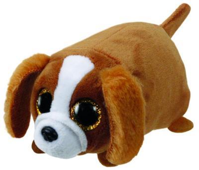Suzie, Hund braun/weiß 10cm